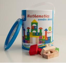 Cuburi de lemn cutie pentru matematica